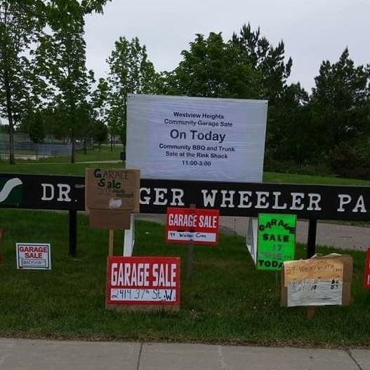 Westview Garage Sale Signs