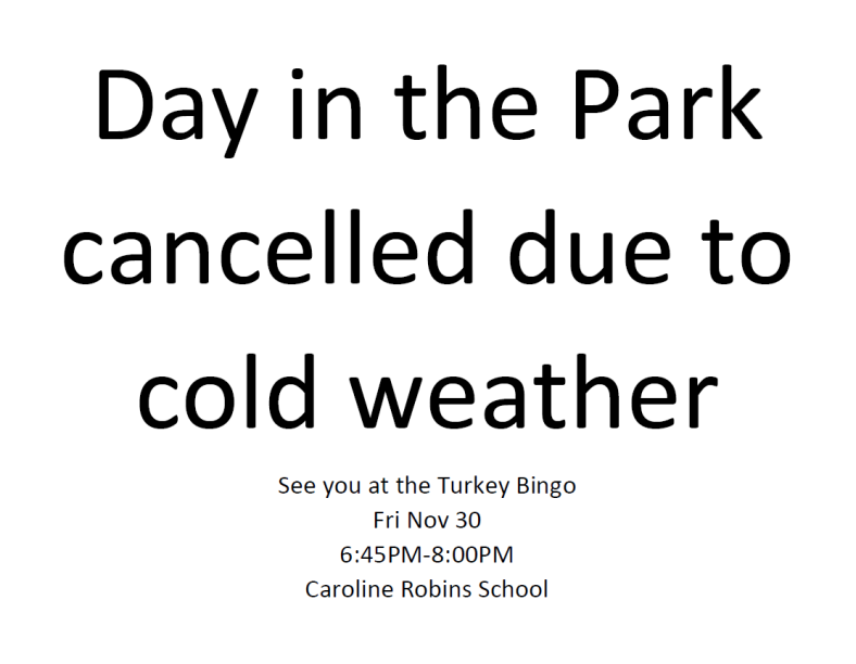 Day in Park Cancelled