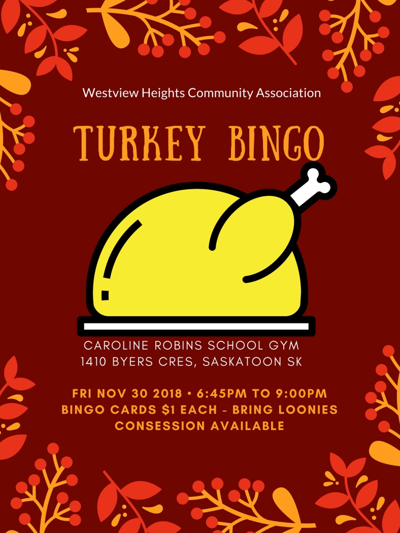 Turkey Bingo Poster 2018